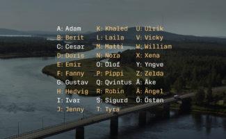 Bild på förslaget på ett nytt bokstaveringsalfabet.